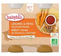 Babybio Pot Légumes Pâtes Bolognaise Boeuf à Genas