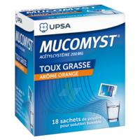 MUCOMYST 200 mg Poudre pour solution buvable en sachet B/18 à Genas