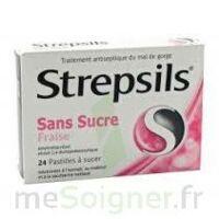 Strepsils Fraise Sans Sucre, Pastille édulcorée à L'isomalt, Au Maltitol Et à La Saccharine Sodique à Genas