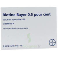Biotine Bayer 0,5 Pour Cent, Solution Injectable I.m. à Genas