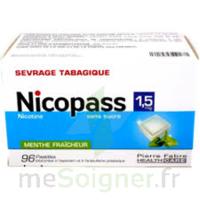 Nicopass 1,5 Mg Pastille Sans Sucre Menthe Fraîcheur Plq/96 à Genas