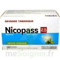 Nicopass 2,5 Mg Pastille Menthe Fraîcheur Sans Sucre Plq/96 à Genas