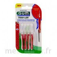 Gum Trav - Ler, 0,8 Mm, Manche Rouge , Blister 4 à Genas