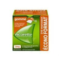 Nicorette 2 Mg Gomme à Mâcher Médicamenteuse Sans Sucre Fruits Plq/210 à Genas