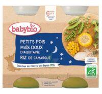 Babybio Pot Bonne Nuit Petits Pois Mais Riz